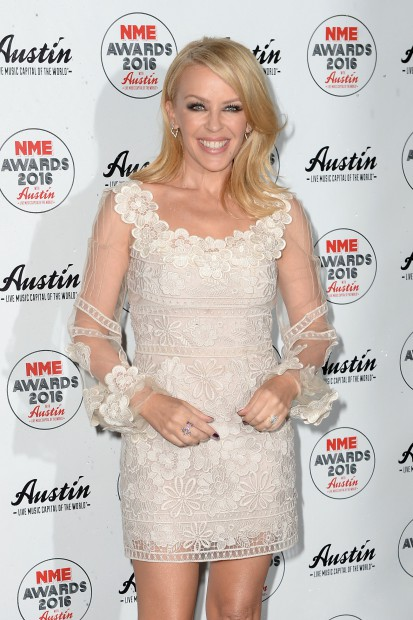Kylie Minogue of The Libertines attending the NME Awards 2016 with Austin, Texas at the O2 Brixton Academy, London. February 17, 2016