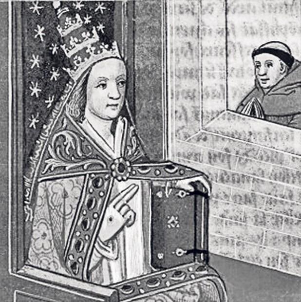 Papesa Ioana, într-o pictură din secolul al XVI-lea