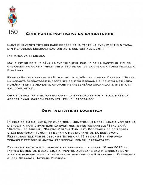 Cine poate participa10 Mai 2016 Logistica