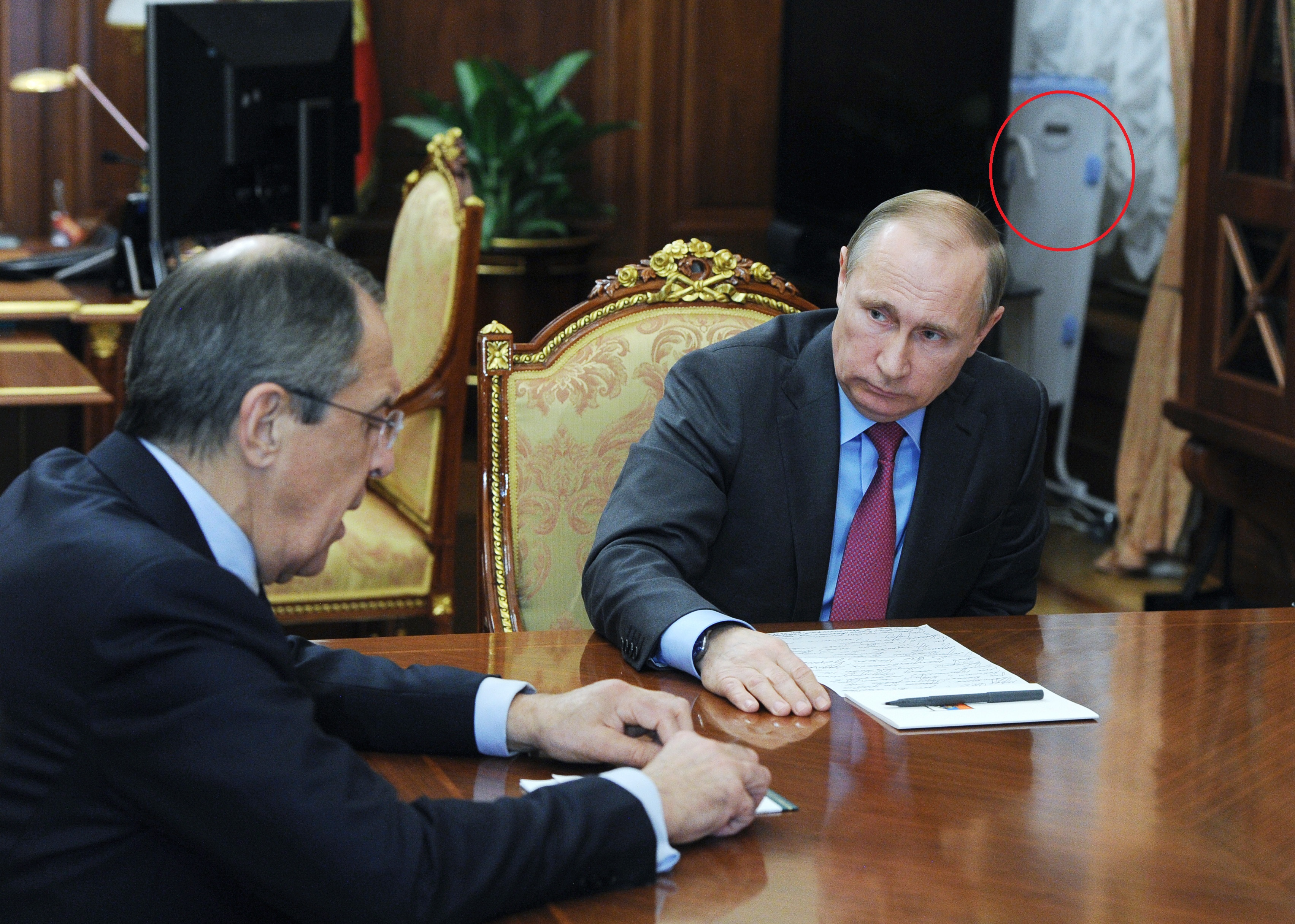 Russian President Vladimir Putin and Russian Minister of Foreign Affairs Sergey Lavrov