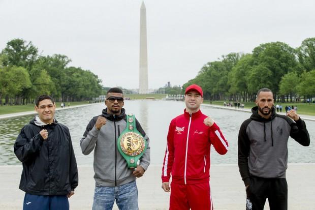 De la stânga la dreapta: Rogelio Medina, Badou Jack, Lucian Bute și James DeGale.