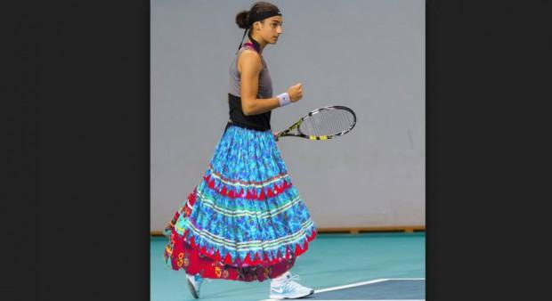 Caroline Garcia, îmbrăcată în fustă de țigancă