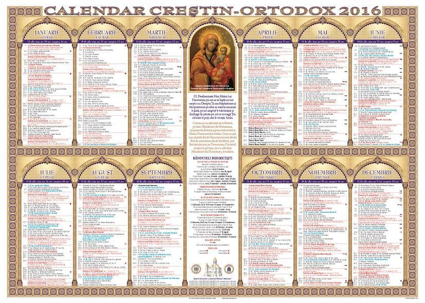 Calendar 2016 Ortodox | Calendar Template 2016
