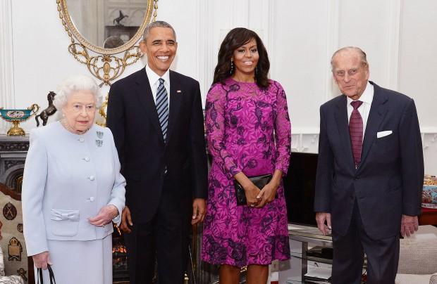 Barack și Michelle Obama, primiți de regina Elisabeta a II-a și prințul Philip la Windsor