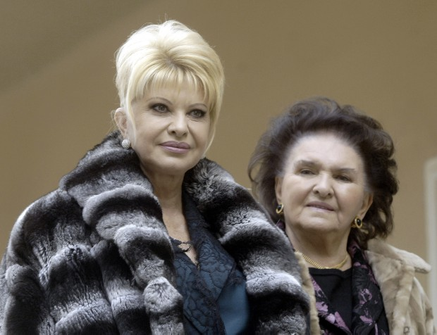 Ivana Trump visits her mother in Prague