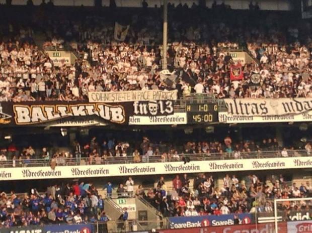 Mesajul fanilor de la Rosenborg