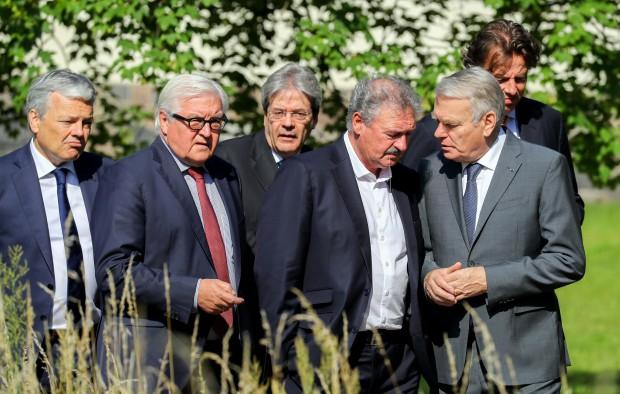 Miniștrii de externe din statele fondatoare UE