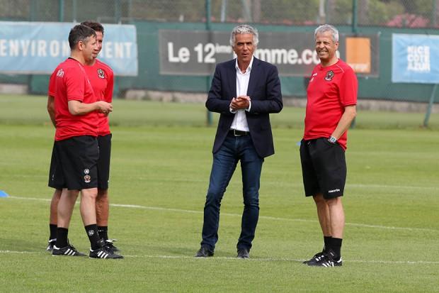 Adrian, Lucien Favre și unul dintre patronii echipei Nice.