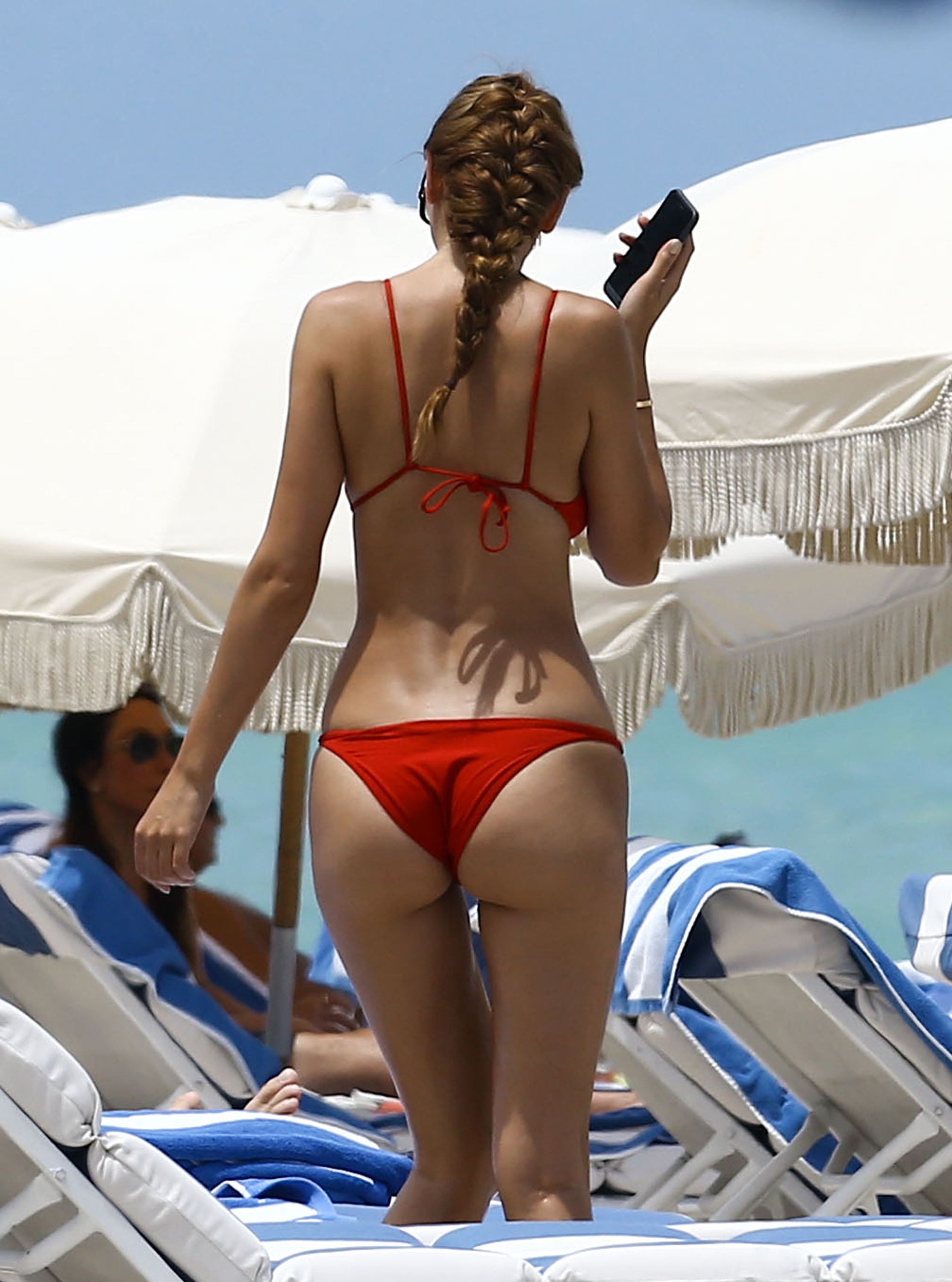 52118754 Romanian socialite Ramona Gabor enjoys a day on the beach in Miami, Florida on July 11, 2016. Ramona showed off her toned body in a red bikini. FameFlynet, Inc - Beverly Hills, CA, USA - +1 (310) 505-9876