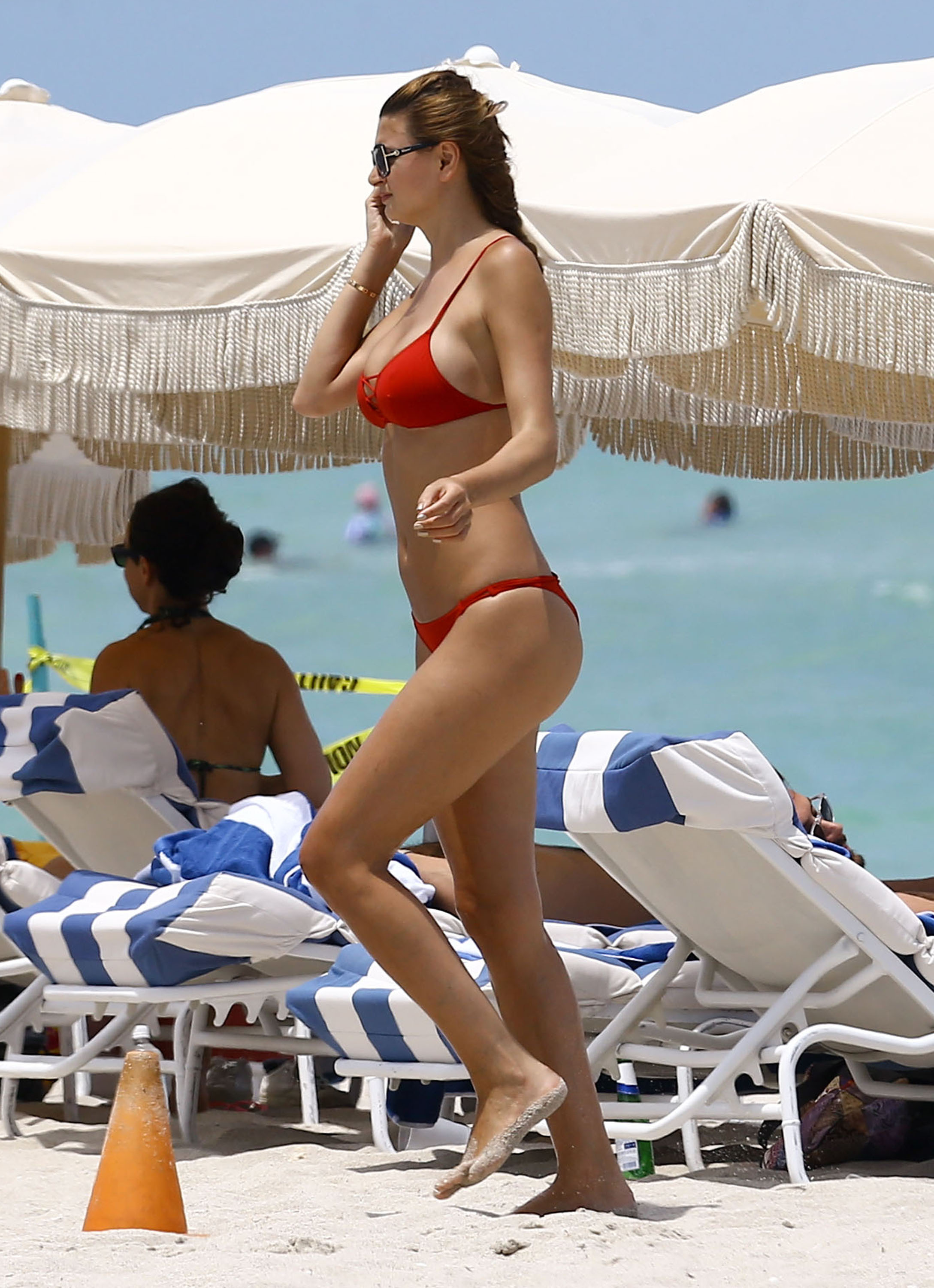 52118752 Romanian socialite Ramona Gabor enjoys a day on the beach in Miami, Florida on July 11, 2016. Ramona showed off her toned body in a red bikini. FameFlynet, Inc - Beverly Hills, CA, USA - +1 (310) 505-9876