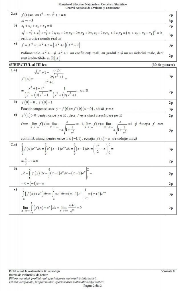 barem matematica mate info 2