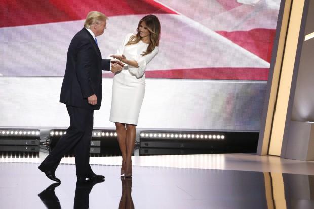 Donald și Melania Trump, conventia republicana Cleveland - EPA