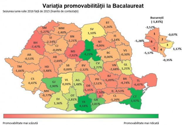 harta rezultate bacalaureat 2016 edu 2
