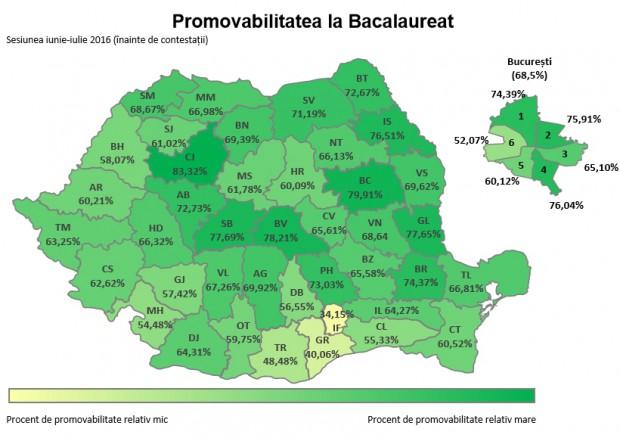 harta rezultate bacalaureat 2016 edu