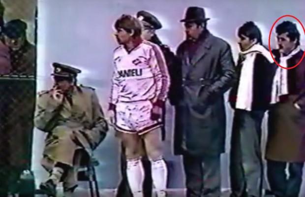 Gigi Becali (primul din dreapta) stătea la meciurile Stelei aproape de banca tehnică