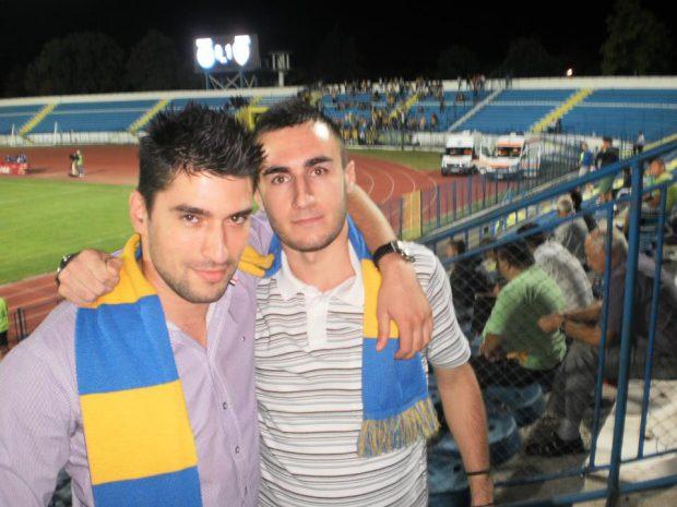 Robert Nuțu (stânga), în timpul unei deplasări la Iași Foto: Facebook