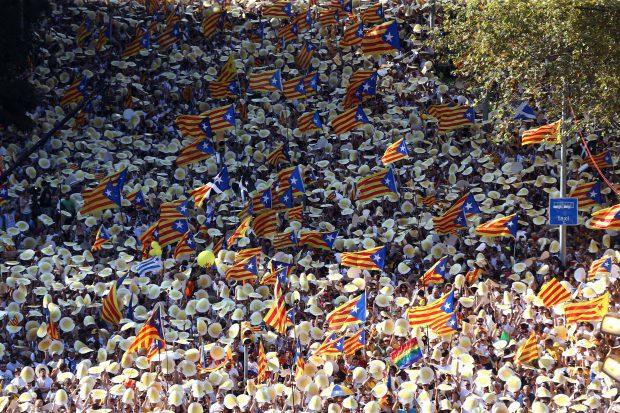 Spania, Catalunia, mars pentru independenta - EPA