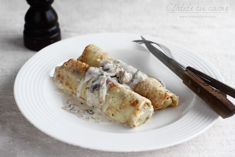 retete clatite cu carne tocată și ciuperci la cuptor