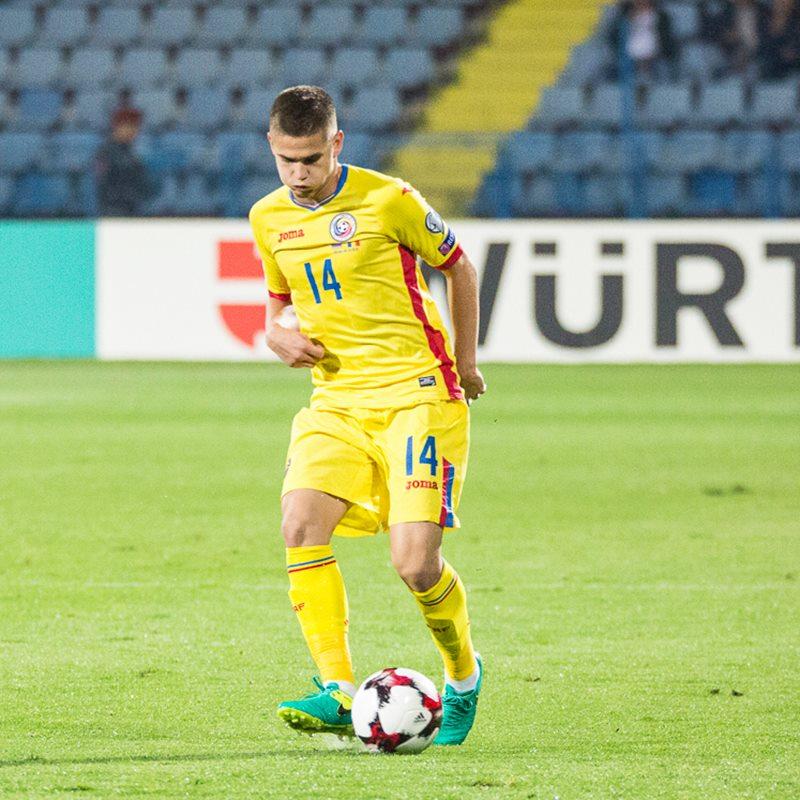 Răzvan Marin a purtat tricoul cu numărul 24 la prima selecție pentru echipa națională