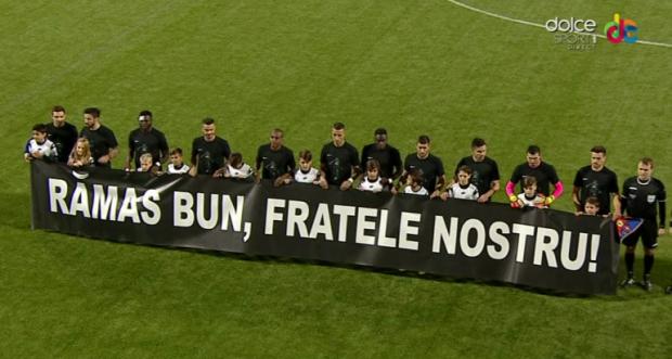 banner Steaua în memoria lui Daniel Prodan