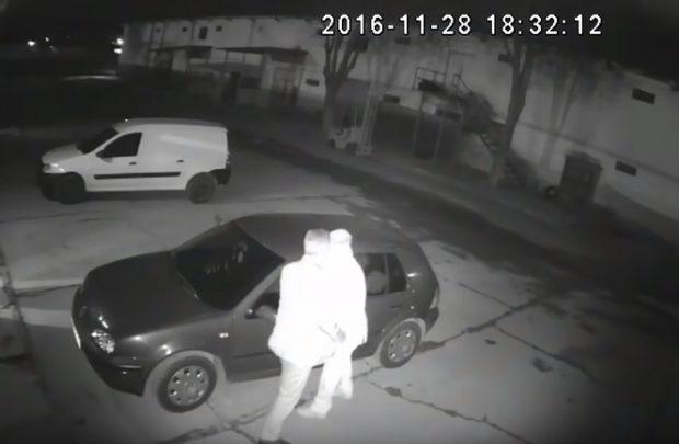 camerele de supraveghere au surprins momentul agresiunii consumată în parcarea unui depozit ce aparține lui Bogdan Dinulescu