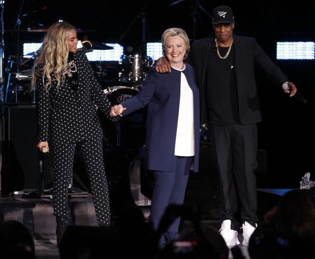 Beyonce și Jay Z o sustin pe Hillary Clinton la alegerile SUA