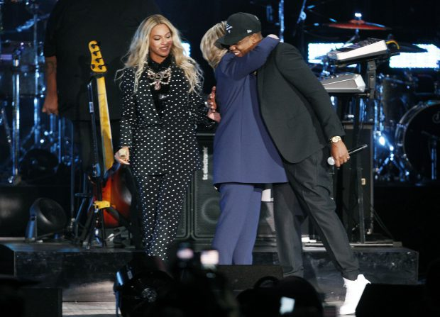 Beyonce, Hillary Clinton și Jay Z