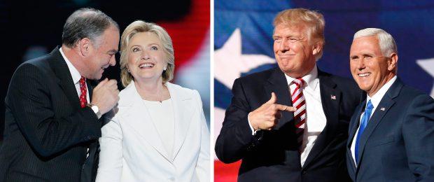 Alegeri SUA 2016 Tandemul democrat Hillary Clinton - Tim Kaine și tandemul republican Donald Trump - Mike Pence