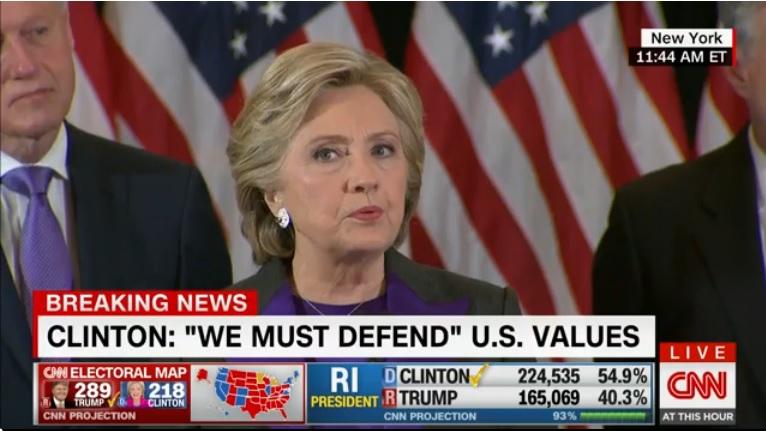 Hillary Clinton, prima reacție după înfrângere