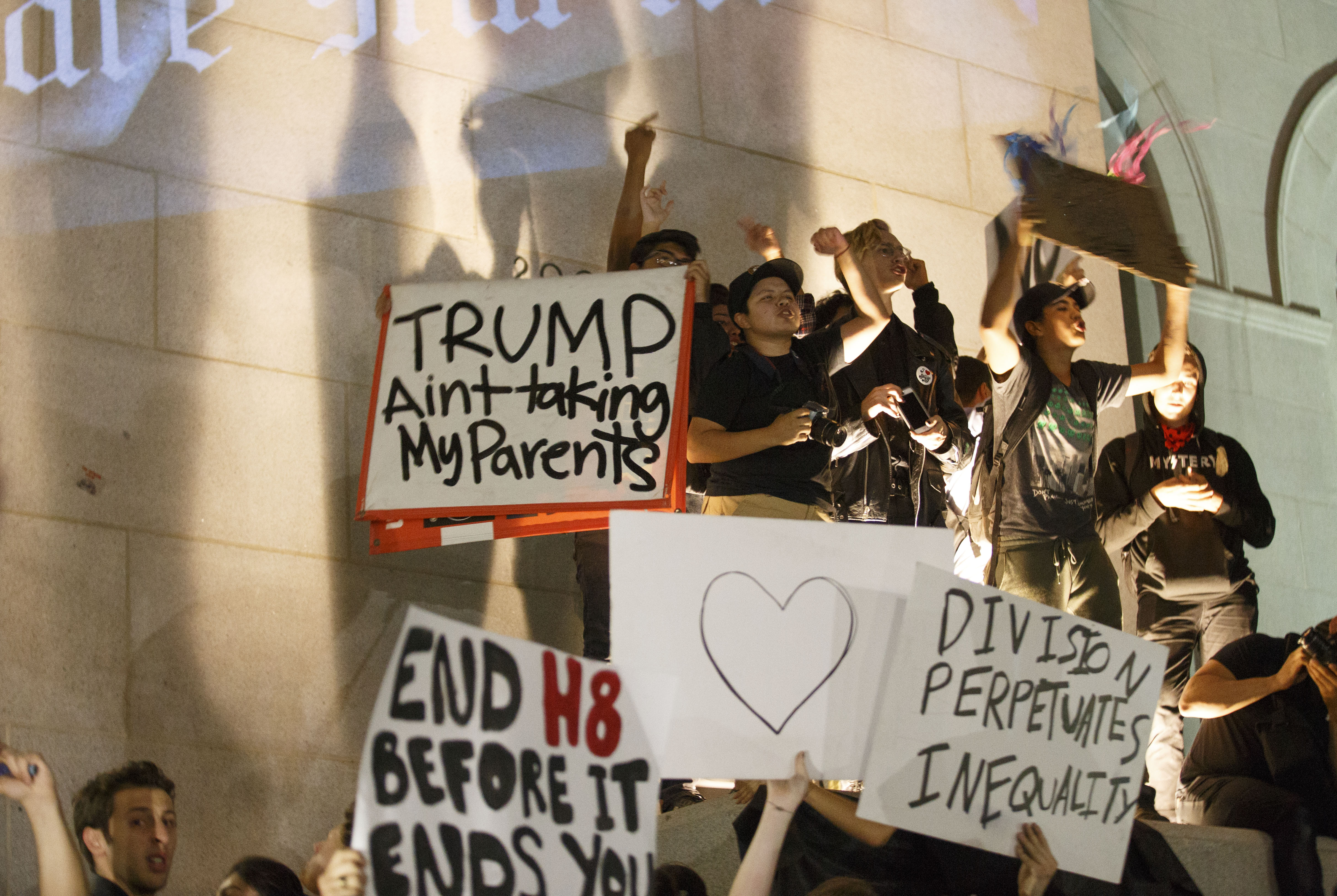 Protest against President-elect Donald Trump in Los Angeles, California