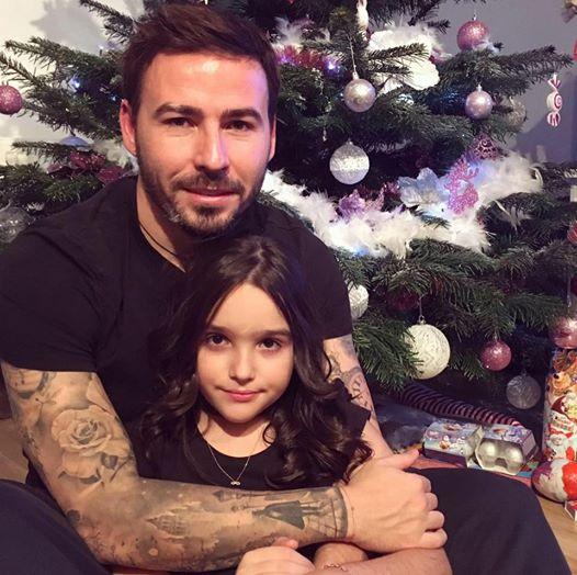 Adrian Cristea și fiica lui, într-o imagine de colecție