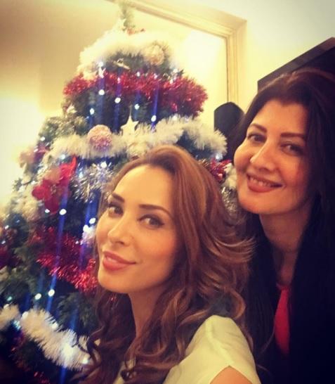 Iulia Vântur a postat pe o rețea de socializare o fotografie în care apare lângă bradul de Crăciun