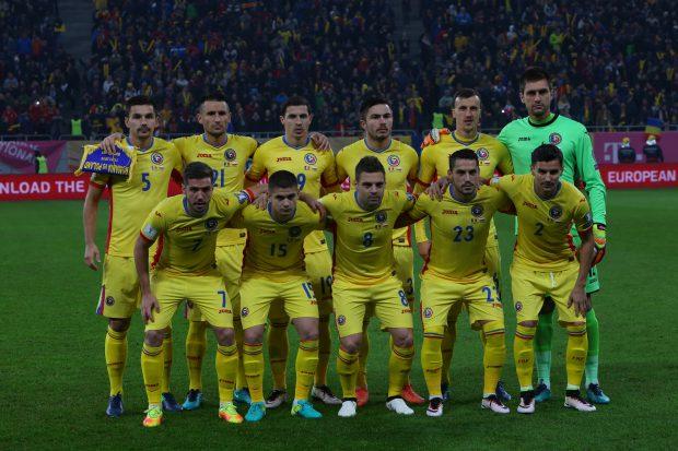 Naționala României, înainte de startul partidei cu Polonia (0-3), din preliminariile CM 2018. (FOTO: Vlad Chirea)