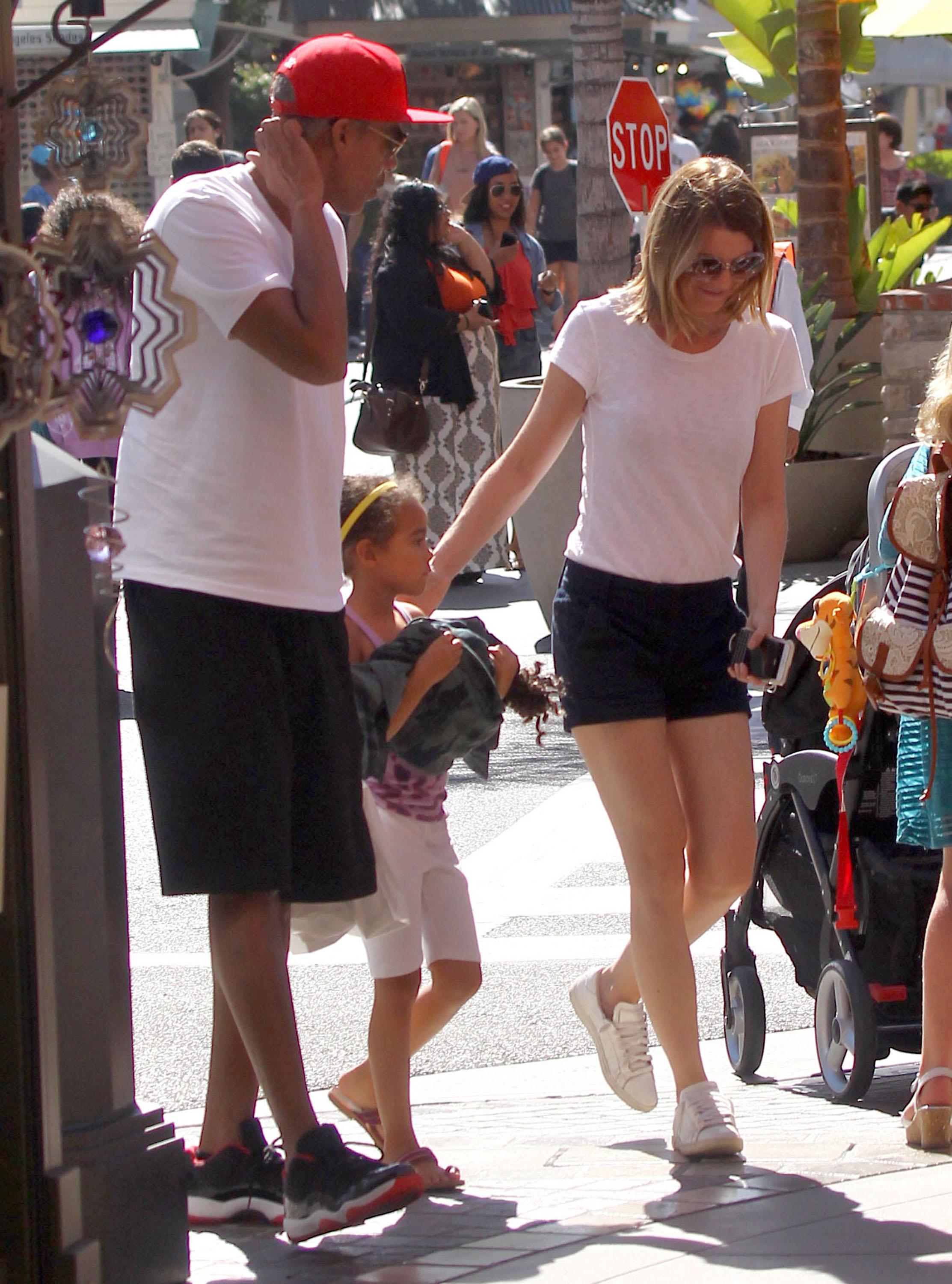 Exclusive... Ellen Pompeo & Family Out Shopping At The Grove