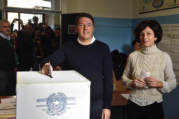 Matteo Renzi și soția sa, Agnese Renzi