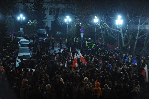 Proteste în parlamentul polonez, Varșovia, Polonia