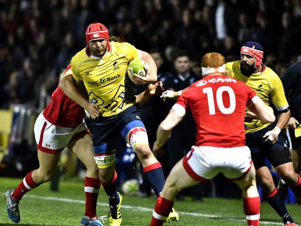 Johan Van Heerden, în timpul unei partide disputate de naţionala de rugby a României. (FOTO: HEPTA)