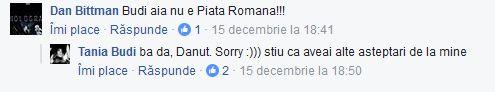 Tania Budi, taxată pe Facebook de Dan Bittman