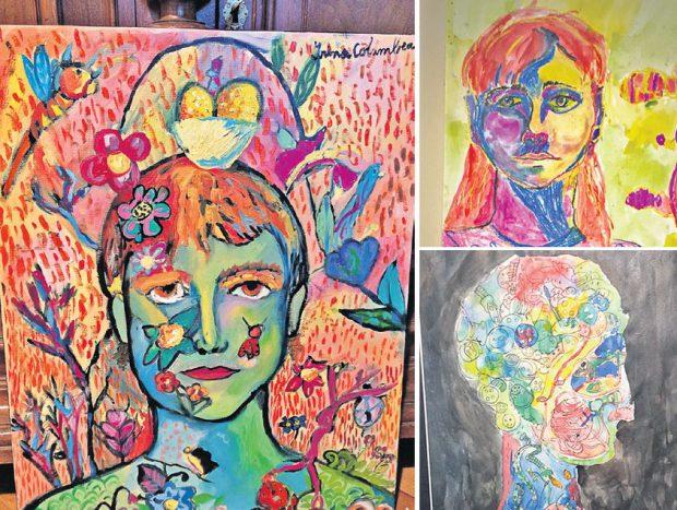 Iată câteva din picturile Irinei, expuse în urmă cu doi ani, într-o galerie de artă. Pe atunci, copila avea doar 8 ani!