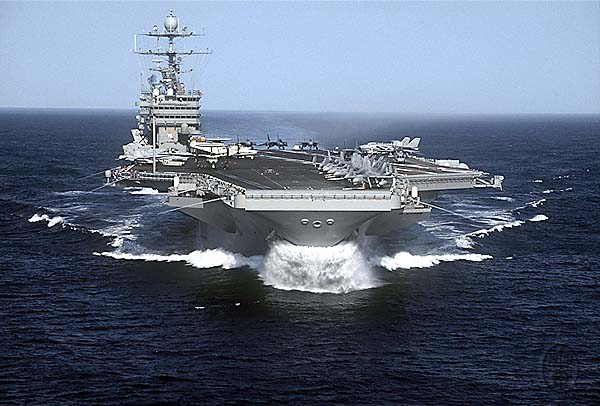 US Navy aircraft carrier USS Harry S. Truman CVN-75, at sea, 5/2/2000.