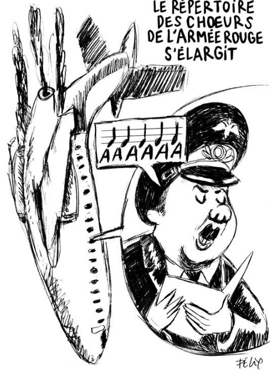 caricatură Charlie Hebdo, Red Amry Choir