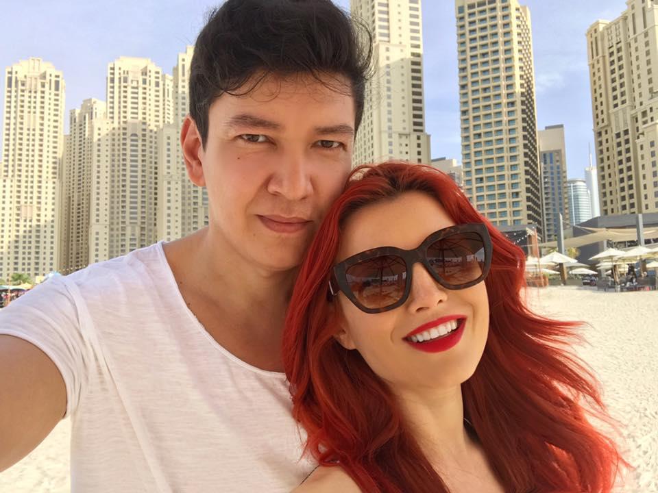 Elena Gheorghe, alături de soțul ei, Cornel Ene