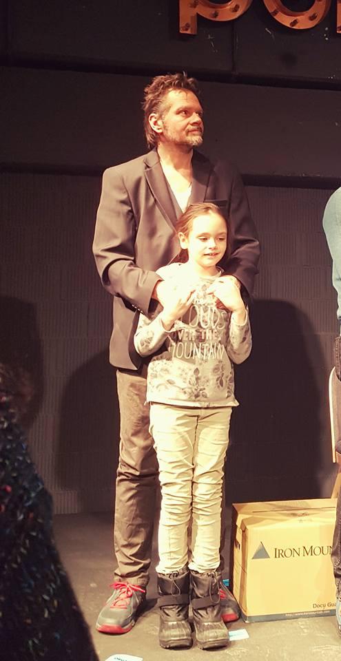 Florin Piersic Junior, alături de fiica sa, Sonia