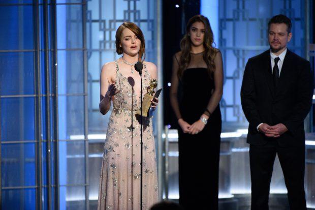 Emma Stone a câștigat Globul de Aur pentru interpretarea sa din musicalul La La Land