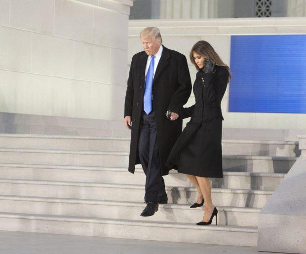 Donald Trump și Melania Trump, la Monumentul Lincoln