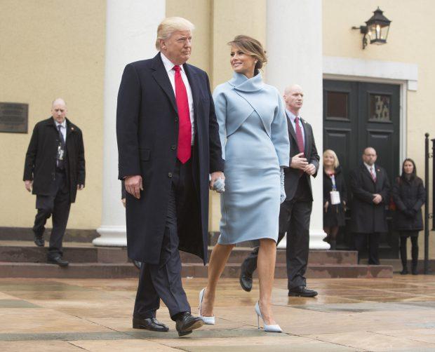 Donald Trump și Melania, după slujba de la Biserica St. John
