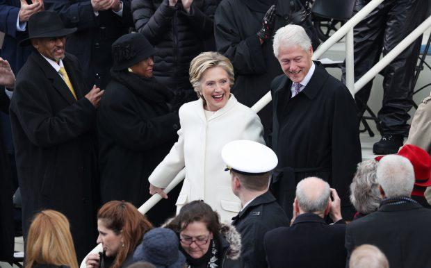 Hillary și Bill Clinton, la ceremonia de învestire a lui Donald Trump