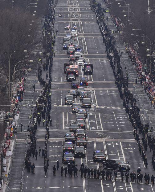 Parada de învestire condusă de Donald Trump