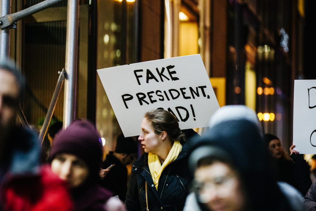 Protest in New York on Inauguration Eve