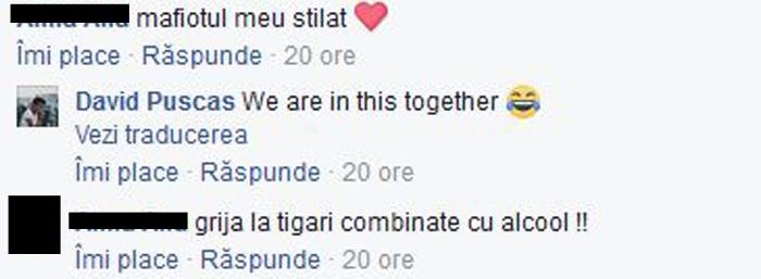 Mesajele schimbate pe Facebook de cei doi